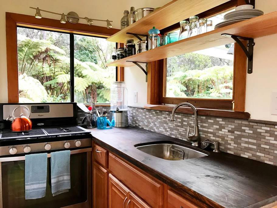 Gas Range - Hale Iki Tiny House
