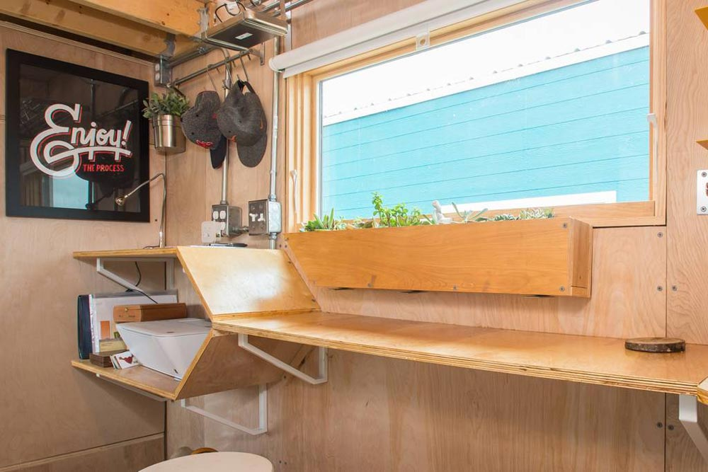 Built-In Table - Kinetohaus Tiny House