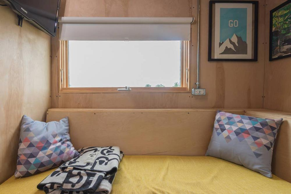 Built-In Couch - Kinetohaus Tiny House