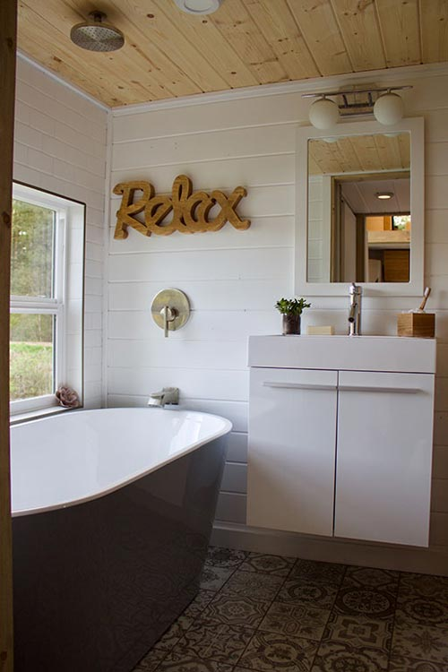 Soaking Tub - Live/Work Tiny Home by Tiny Heirloom