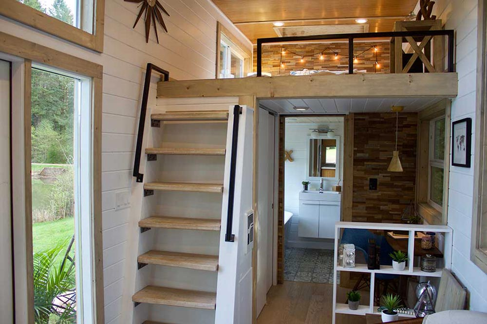 Loft Stairs - Live/Work Tiny Home by Tiny Heirloom