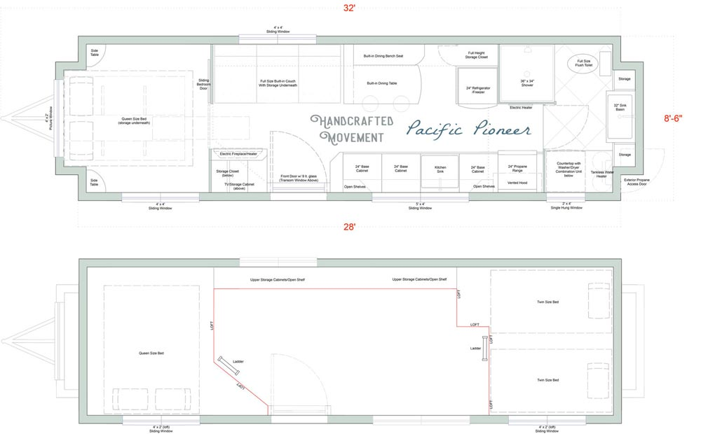 Floor Plan - Pacific Pioneer by Handcrafted Movement