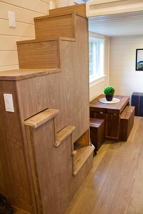 Automated Stairs - Tiny Craftsman Home by Tiny Heirloom