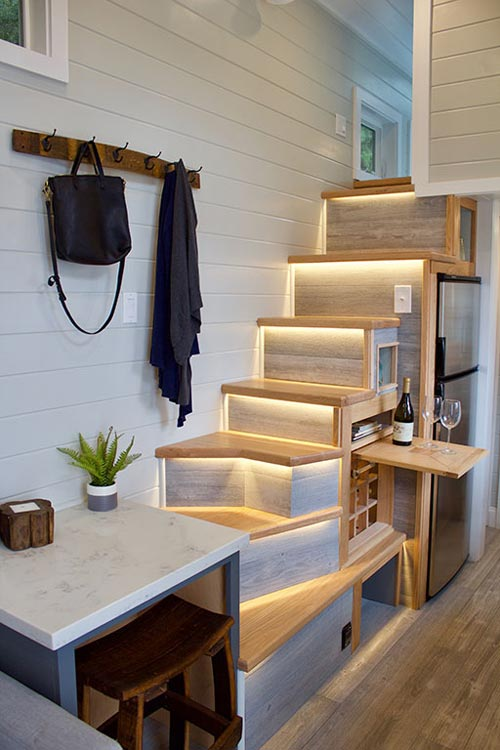 Table & Stairs - Tiny Replica Home by Tiny Heirloom
