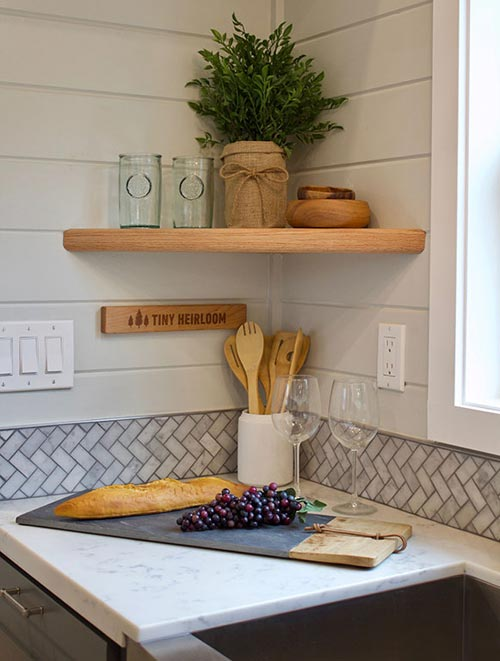 Marble Backsplash - Tiny Replica Home by Tiny Heirloom