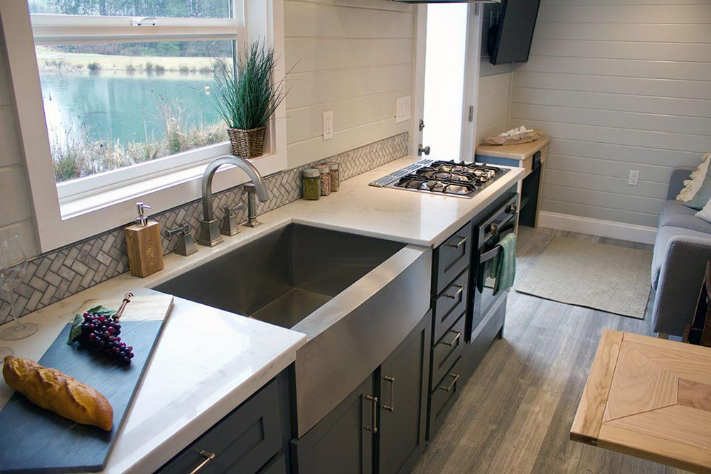 Stainless Steel Apron Sink - Tiny Replica Home by Tiny Heirloom