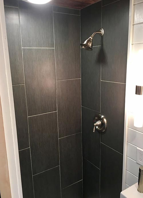 Modern Shower - Tiny Home of Zen by Tiny Heirloom
