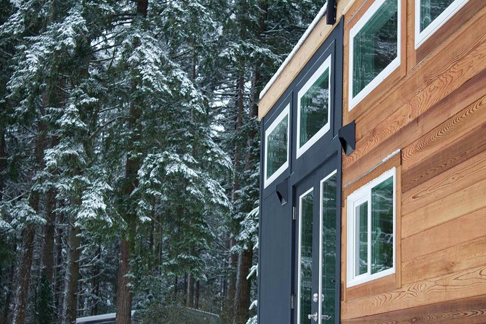 Black Plywood Siding - Tiny Home of Zen by Tiny Heirloom