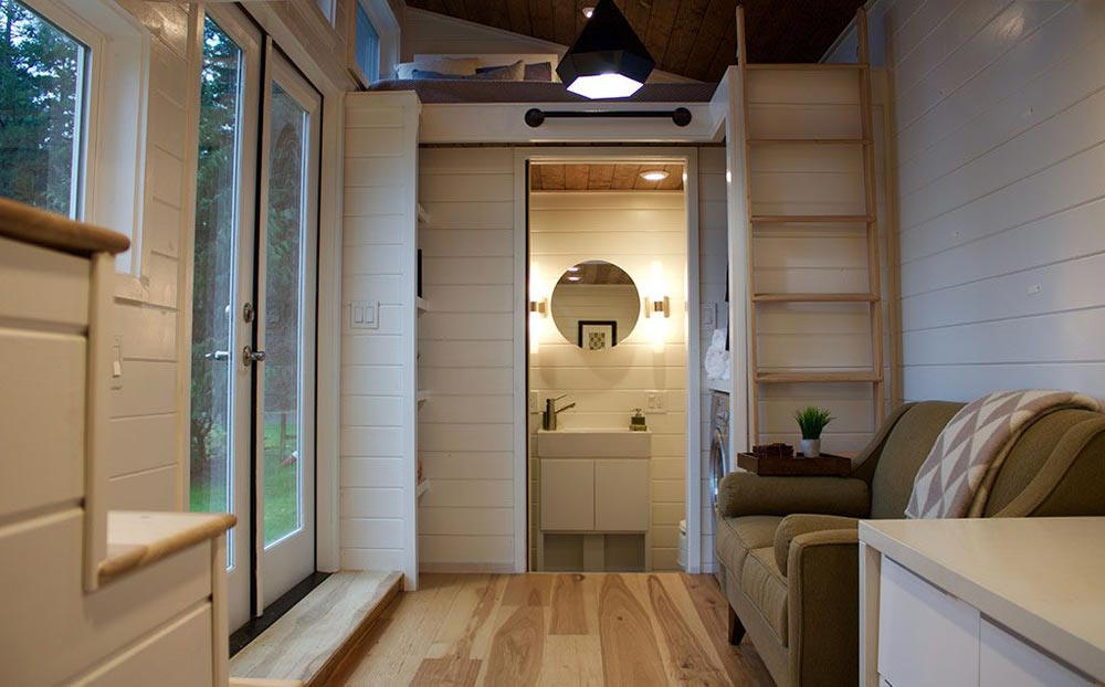 Raised Living Room - Tiny Home of Zen by Tiny Heirloom