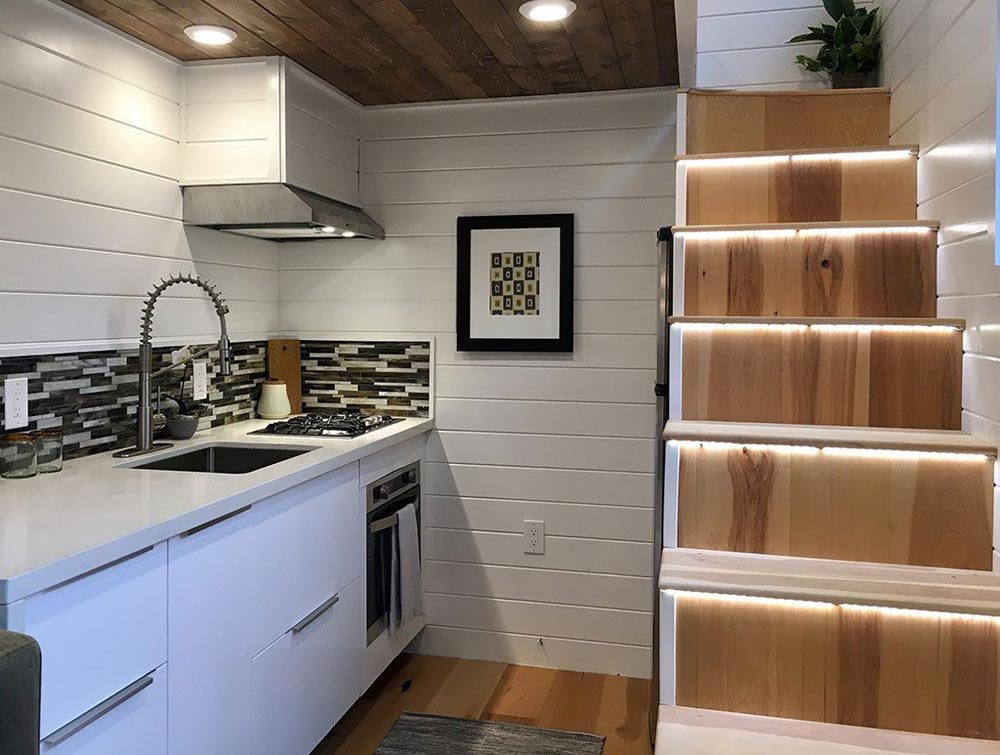 Kitchen & Stairs - Tiny Home of Zen by Tiny Heirloom