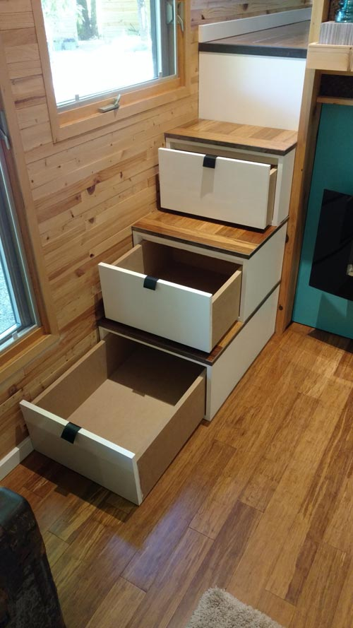 Kmh Haus stair storage tinyhaus by kmh concepts tiny living