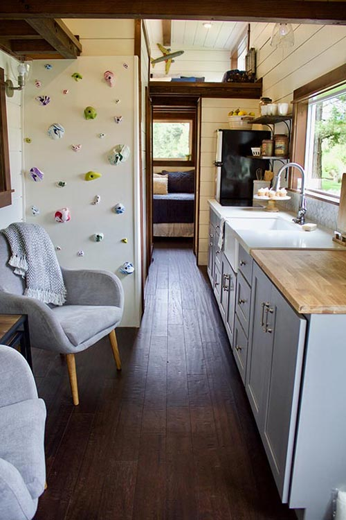 Kitchen & Wall - Tiny Traveling Farmhouse by Tiny Heirloom
