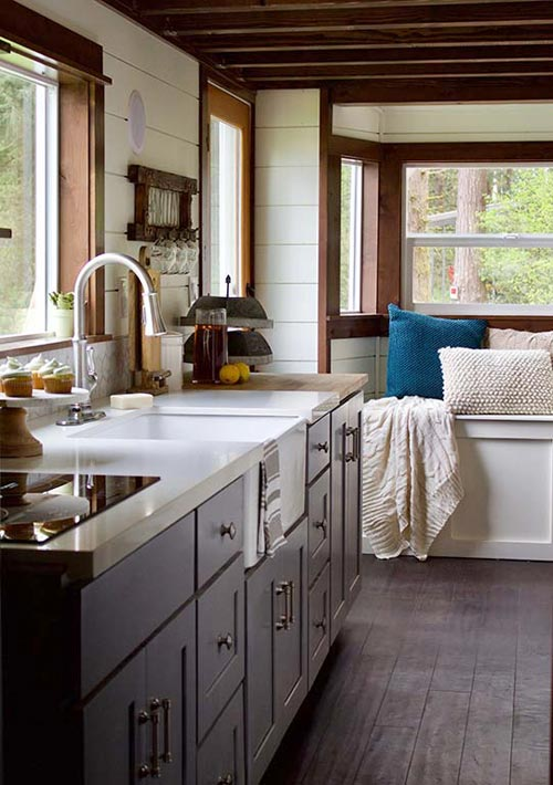 Kitchen Cabinets - Tiny Traveling Farmhouse by Tiny Heirloom