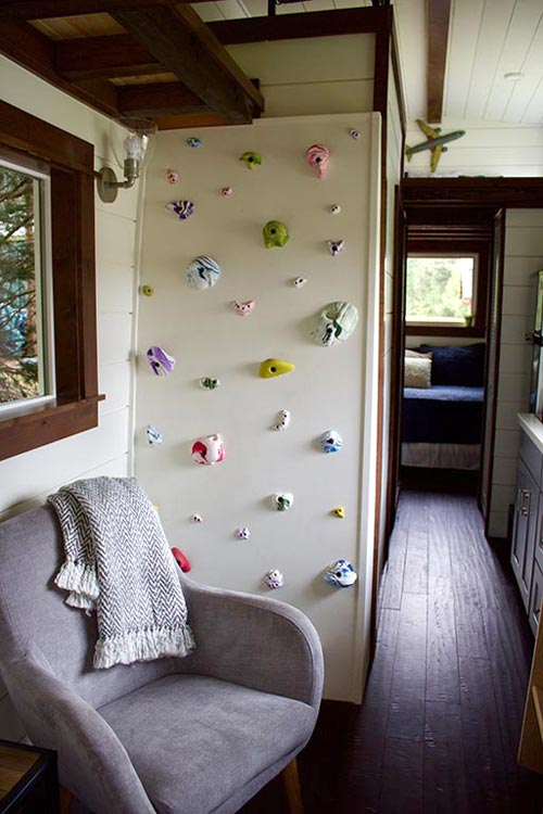 Rock Climbing Ladder - Tiny Traveling Farmhouse by Tiny Heirloom