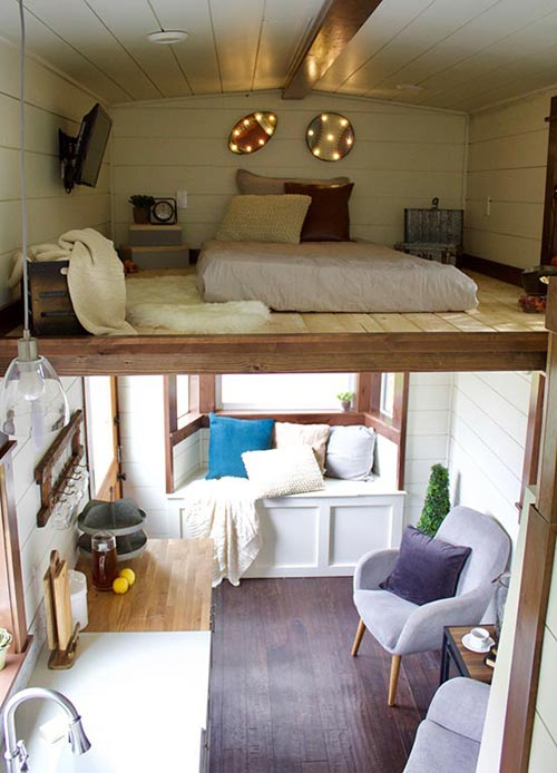 Tiny House Interior - Tiny Traveling Farmhouse by Tiny Heirloom