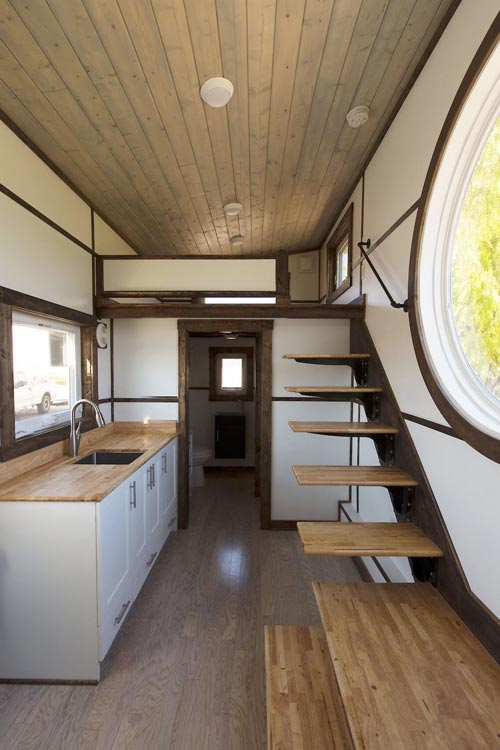 Kitchen & Stairs - View by Tiny House Chattanooga