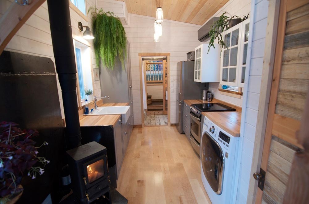 Wood Stove - Winter Wonderland by Nelson Tiny Houses
