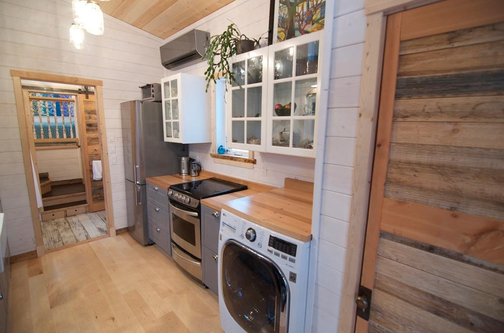 Galley Kitchen - Winter Wonderland by Nelson Tiny Houses