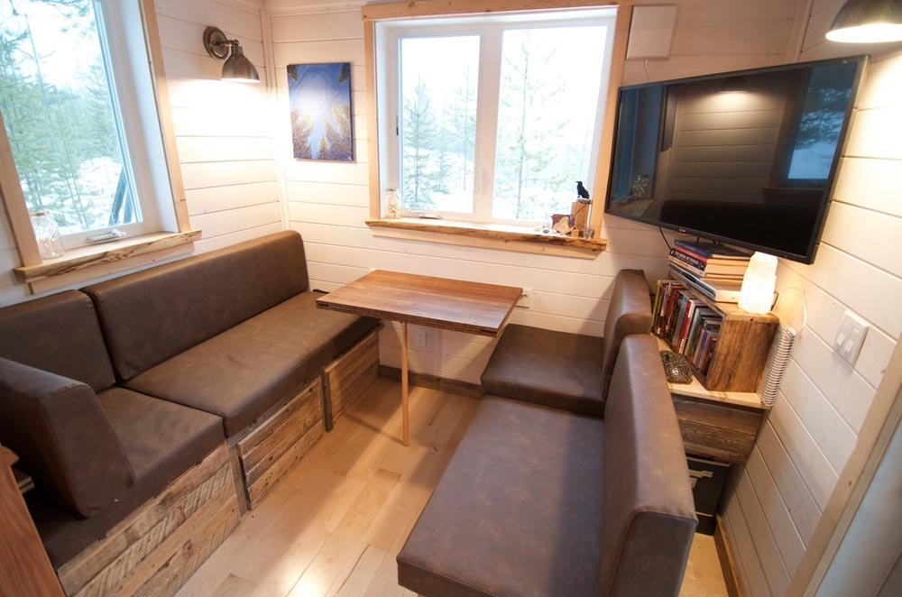 Convertible Couch/Dining Room - Winter Wonderland by Nelson Tiny Houses