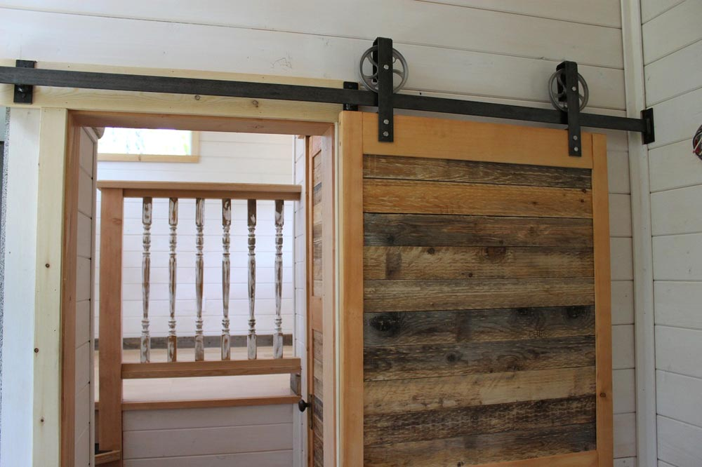 Barn Door - Winter Wonderland by Nelson Tiny Houses