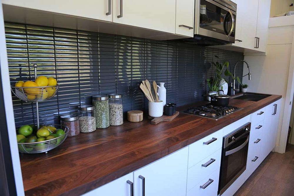 Walnut Counter - Tiny House, Big Kitchen by Tiny Heirloom