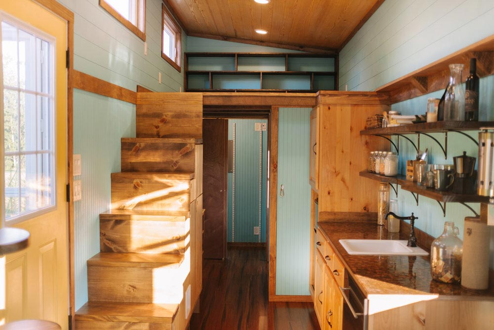 Stairs & Kitchen - Big Whimsy by Wind River Tiny Homes