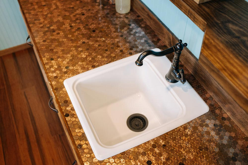 Copper Penny Counter - Big Whimsy by Wind River Tiny Homes