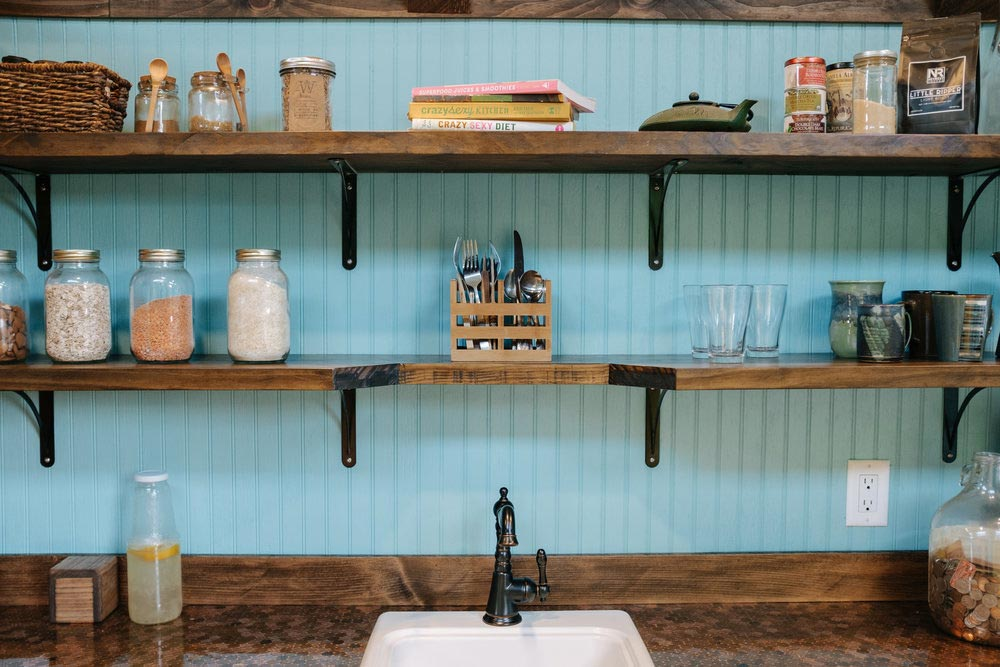 Kitchen Shelves - Big Whimsy by Wind River Tiny Homes