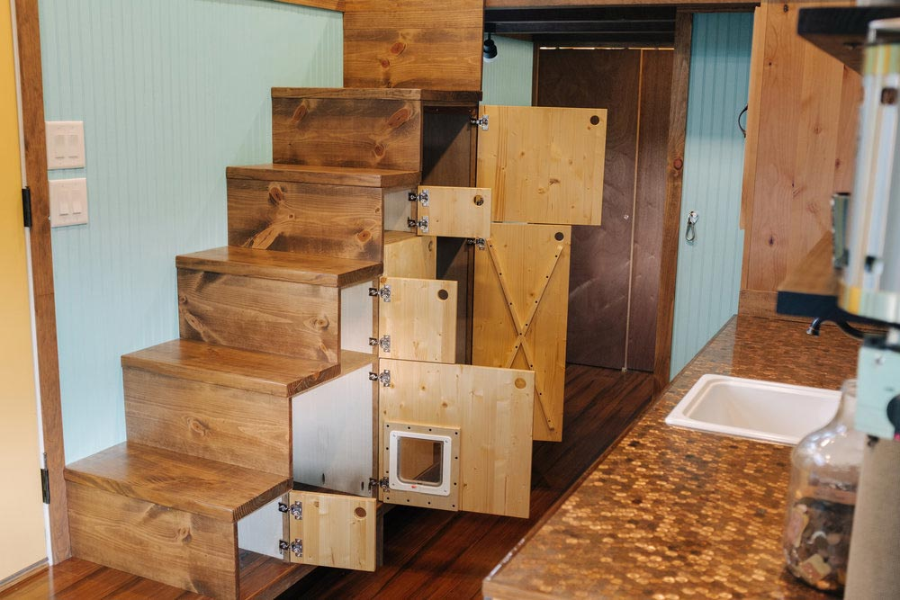 Storage Stairs - Big Whimsy by Wind River Tiny Homes