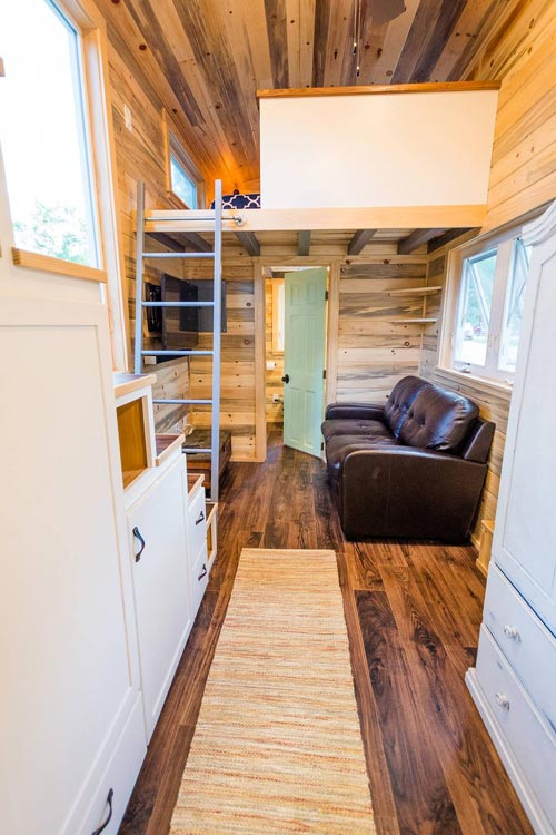 Storage Stairs - Curtis & April's Tiny House by Mitchcraft Tiny Homes