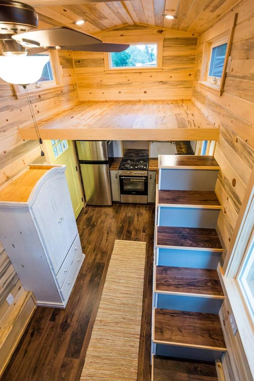 Bedroom Loft - Curtis & April's Tiny House by Mitchcraft Tiny Homes