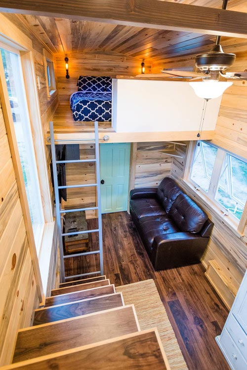 Guest Loft - Curtis & April's Tiny House by Mitchcraft Tiny Homes