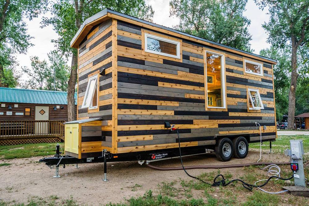 Cedar Siding - Curtis & April's Tiny House by Mitchcraft Tiny Homes