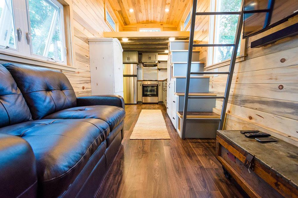 View From Living Space - Curtis & April's Tiny House by Mitchcraft Tiny Homes