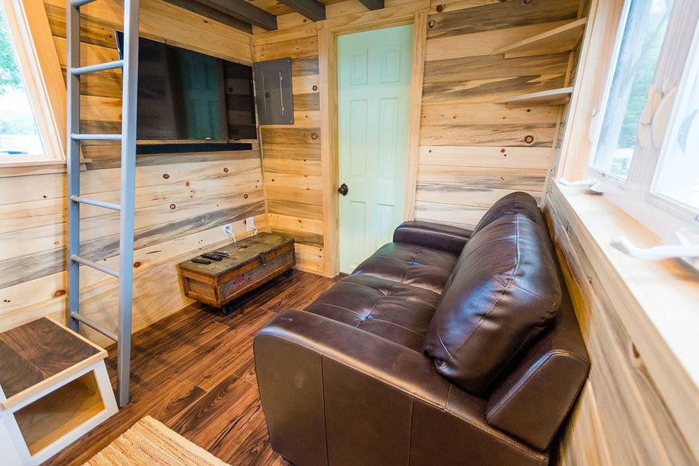 Living Space - Curtis & April's Tiny House by Mitchcraft Tiny Homes