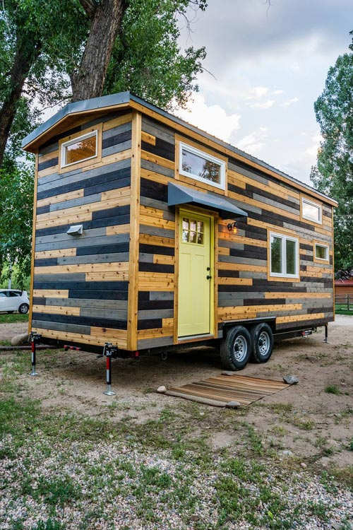 Custom Siding - Curtis & April's Tiny House by Mitchcraft Tiny Homes