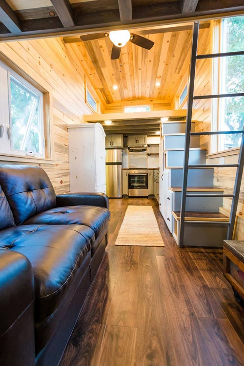 Tiny House Interior - Curtis & April's Tiny House by Mitchcraft Tiny Homes
