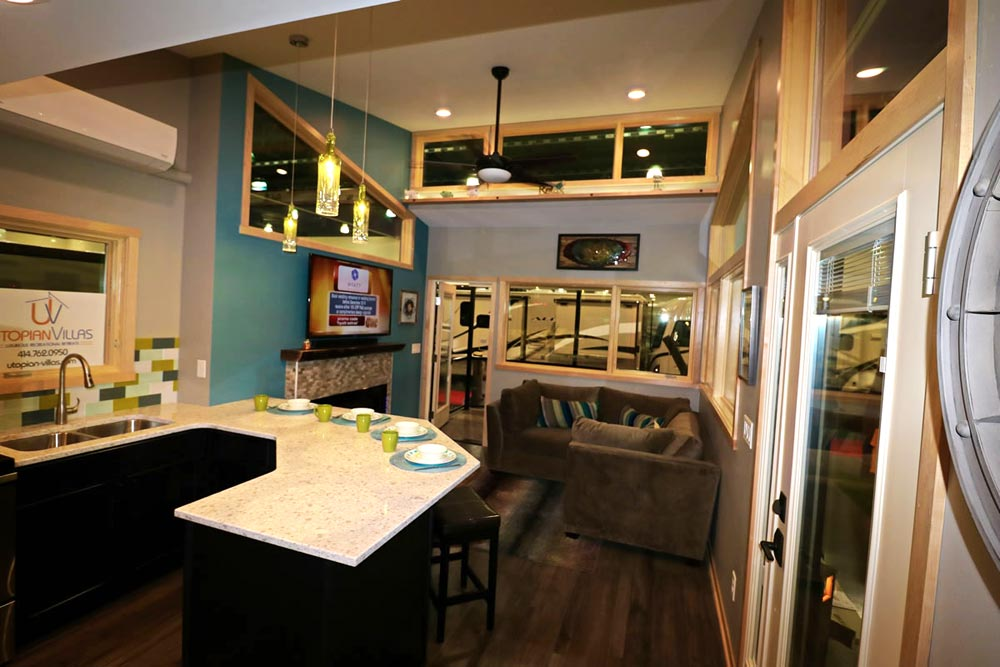 Kitchen & Living Room - Denali by Utopian Villas