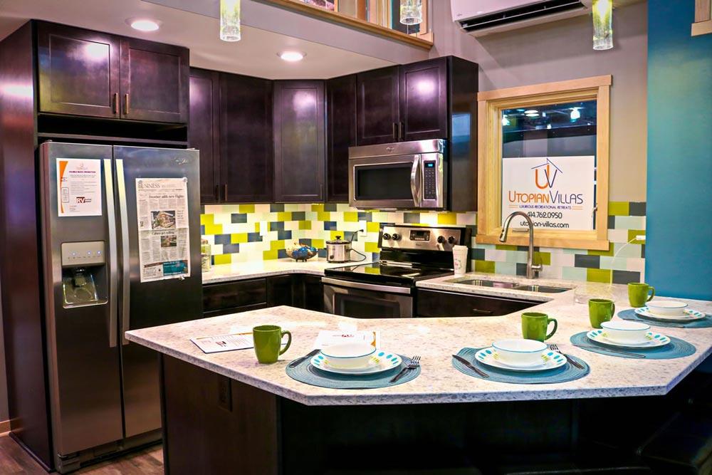 Kitchen w/ Island - Denali by Utopian Villas