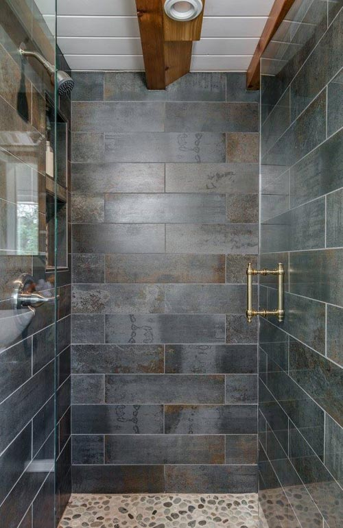 Tile Shower - Escher by New Frontier Tiny Homes