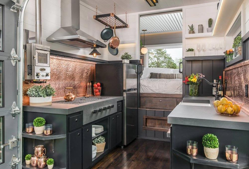 Copper Accents - Escher by New Frontier Tiny Homes