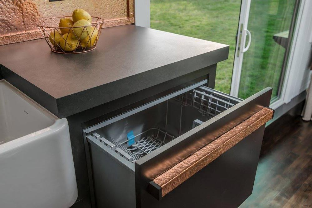 Hidden Dishwasher - Escher by New Frontier Tiny Homes