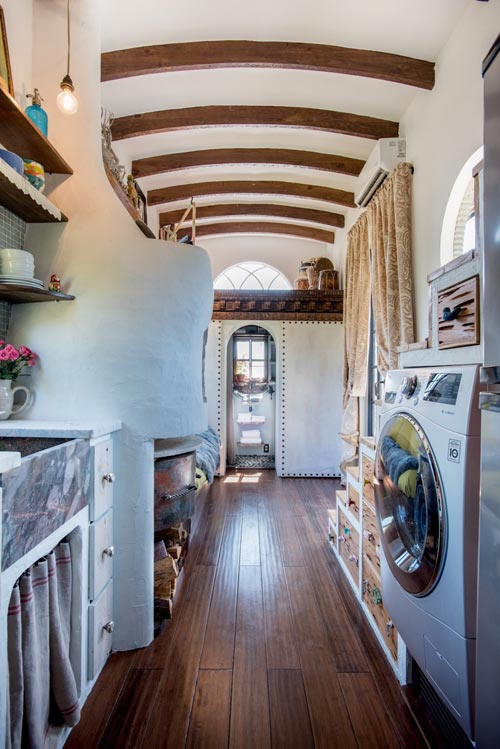 Kitchen & Laundry - Gypsy Mermaid Tiny House