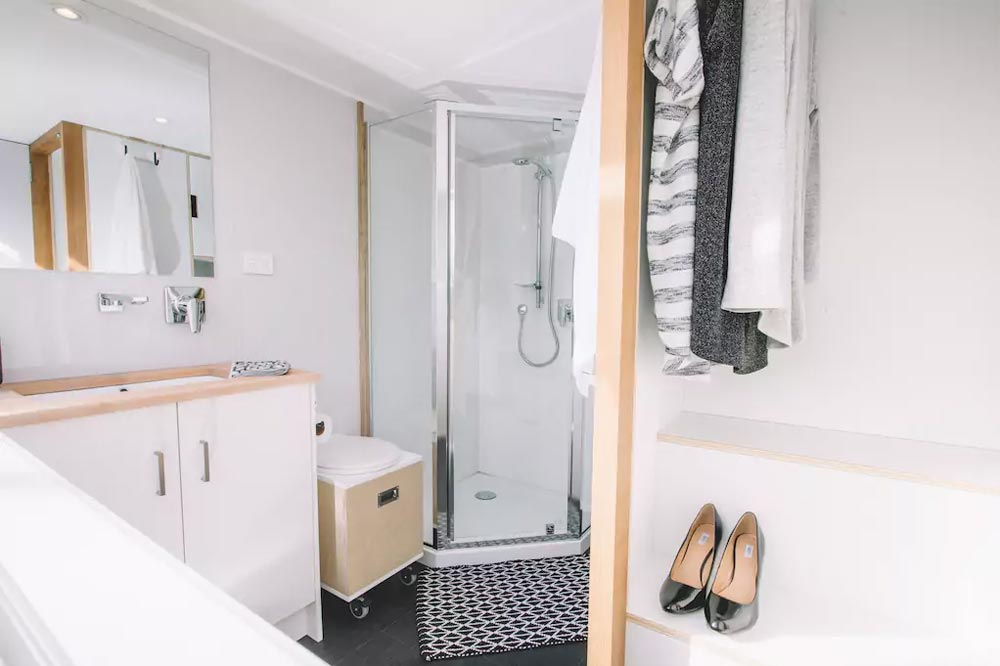 Corner Shower - Millennial Tiny House by Build Tiny