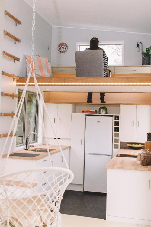 Kitchen & Loft - Millennial Tiny House by Build Tiny