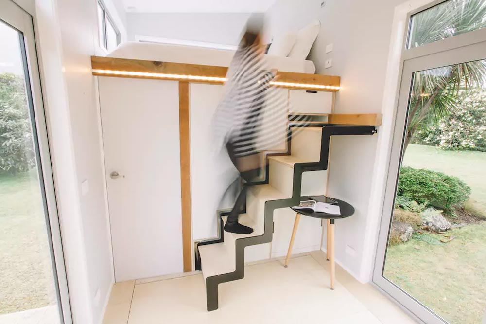 Retractable Staircase - Millennial Tiny House by Build Tiny