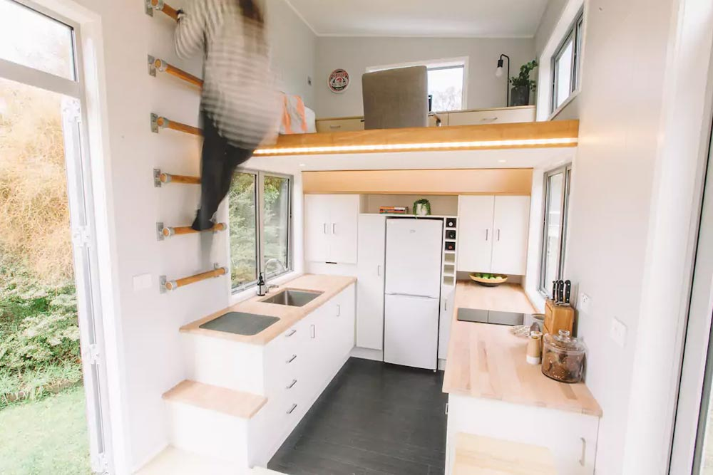 Wall Ladder - Millennial Tiny House by Build Tiny