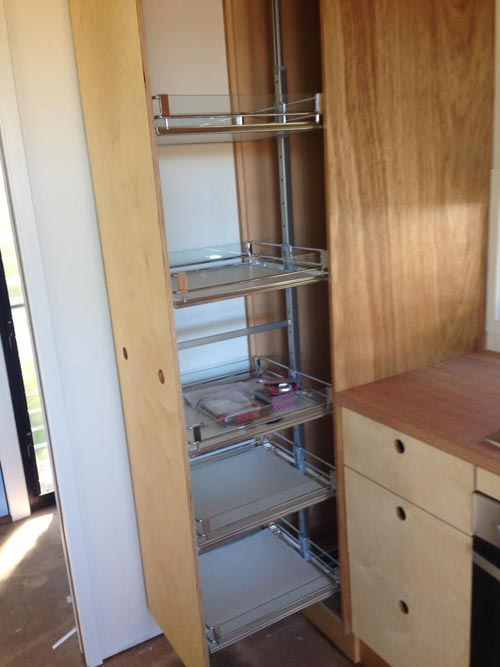 Slide-Out Pantry - Australian Zen Tiny Home
