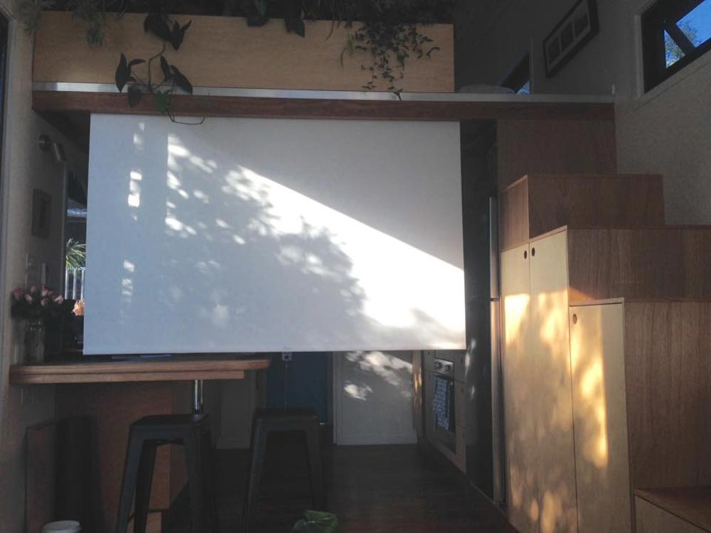 Projection Screen - Australian Zen Tiny Home