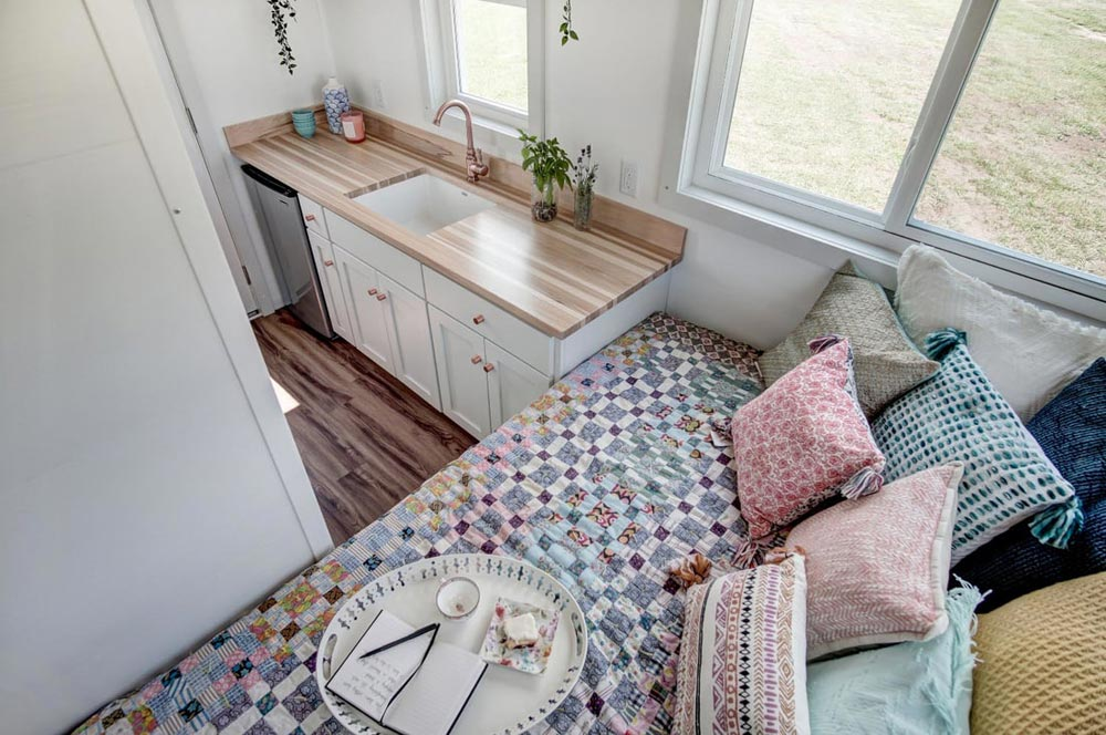 Sleeping Area & Kitchen - Nugget by Modern Tiny Living